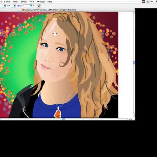 Self-Portrait in Illustrator