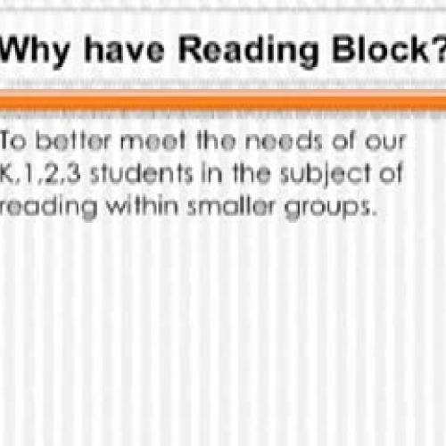 Reading Block Presentation