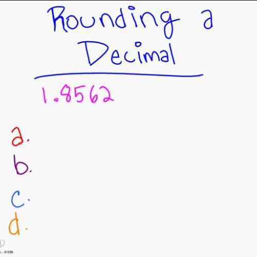 Rounding a Decimal part 2