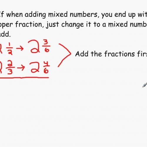 Converting Improper Fractions into Mixed Numb