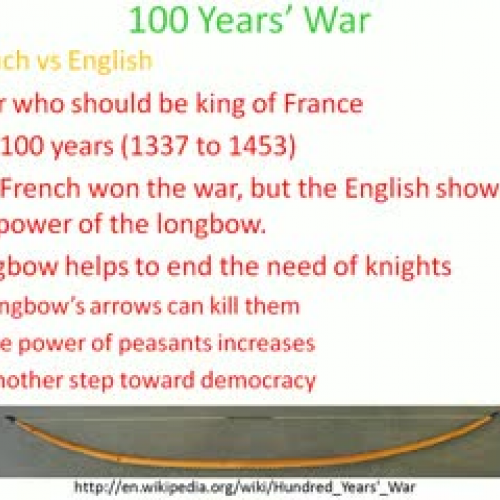 Hundred Years' War and the End of the Middle