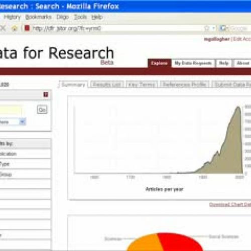 JSTOR's Data for Research (DfR): Tips and Too