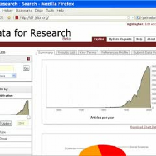 JSTOR's Data for Research Tip #2: Key terms