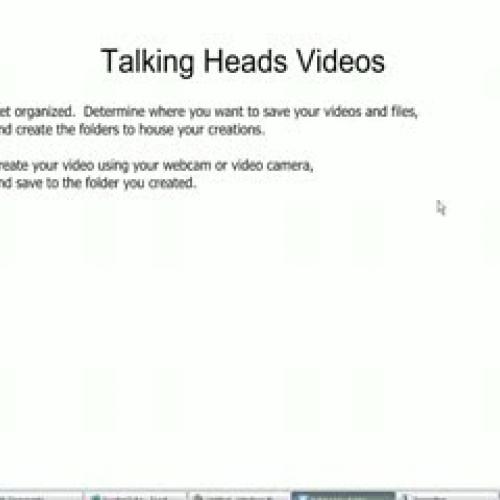 Webcam Video Instructions