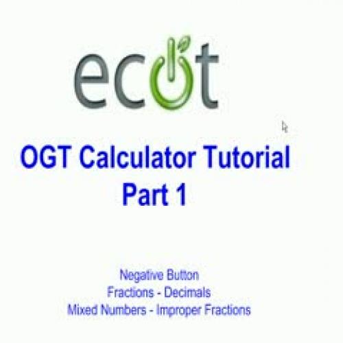 OGT Calculator Tutorial Video #1