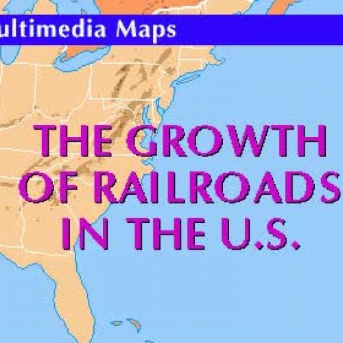 U.S. Railroad History Map 1830 - 1990s
