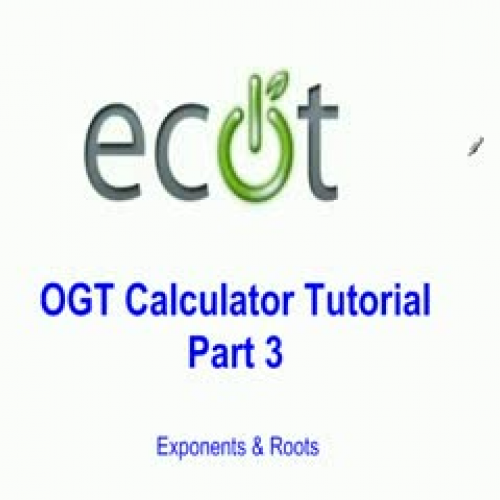 OGT Calculator Tutorial Video #3
