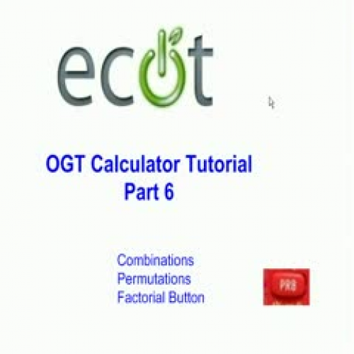 OGT Calculator Tutorial #6