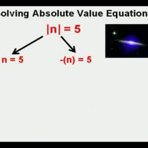Solving Absolute Value Equations Graph Calcul
