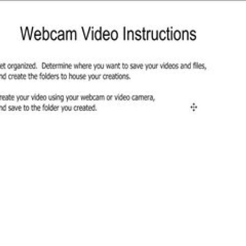 Webcam Video Instructions for TeacherTube