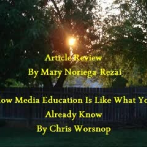 Article Review by Mary Noriega-Rezai