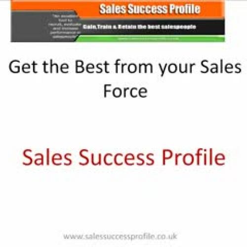 Improve your selling skills  Sales Success Pr