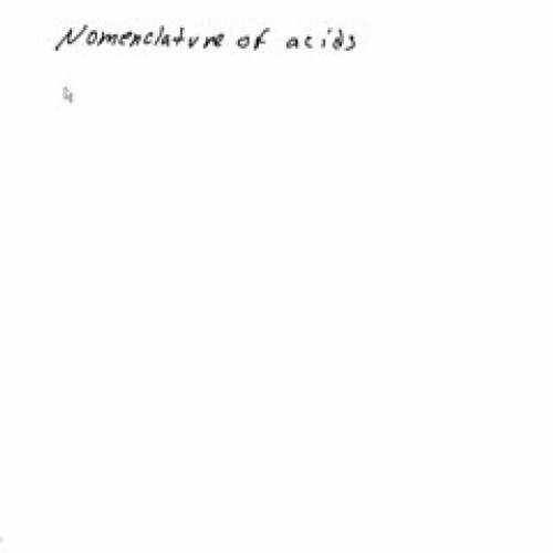 Nomeclature of Acids