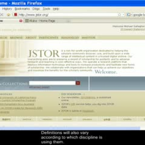 JSTOR Primary and Secondary Sources