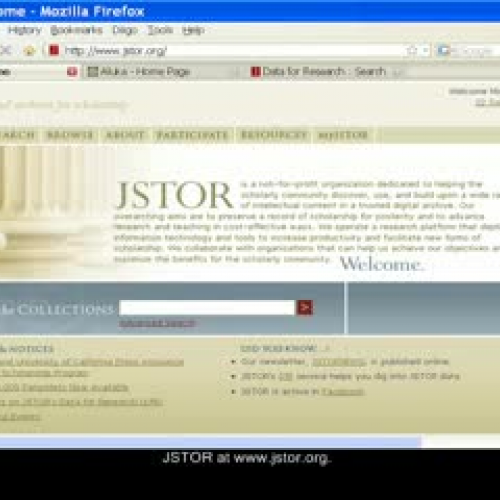 JSTOR Resources for Secondary School Teachers