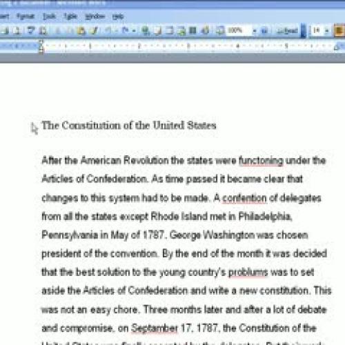 Lesson 2- Formatting Part 1