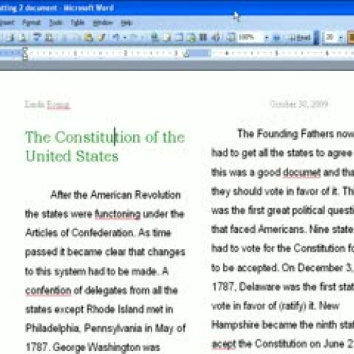 Formatting Lesson 2- Part 2