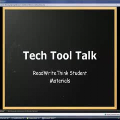 Tech Tool Talk - ReadWriteThink Student Mater