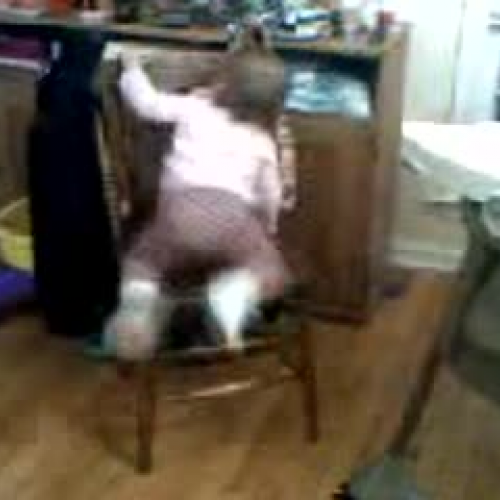 Allegra and the chair