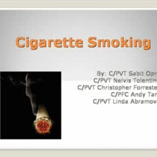 Stop Cigarette Smoking Health Video #3