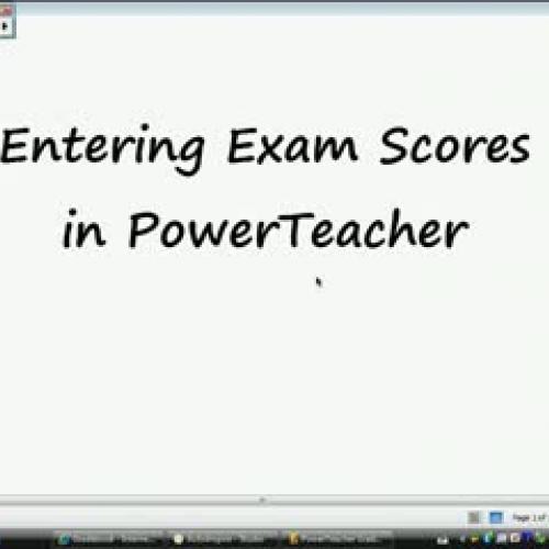 Entering Exam Scores