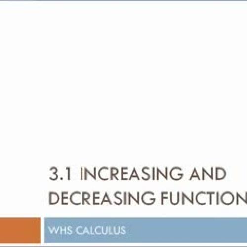 Calculus increasing and decreasing functions_
