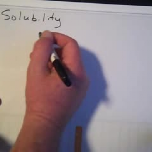 Solubility Introduction