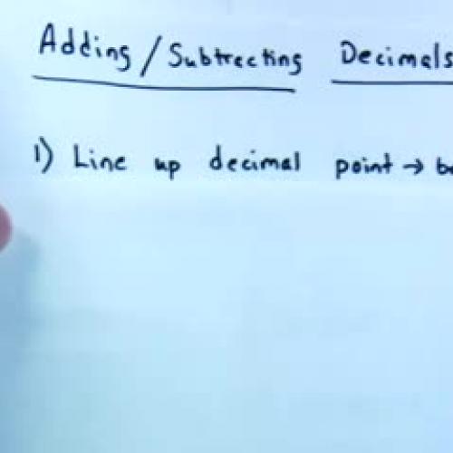 Adding/Subtracting Decimals