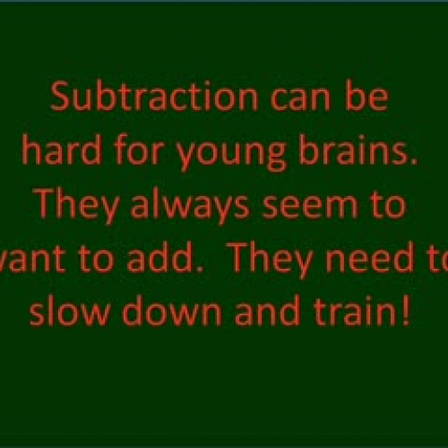 Training Brains to Subtract with Trading