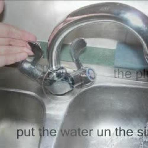 Instructional writing washing pots