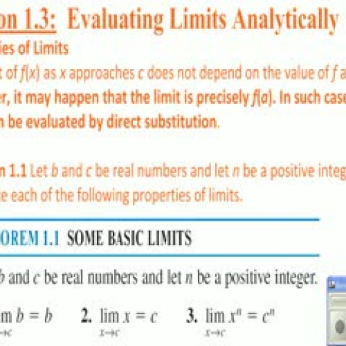 Calculus I section 1.3