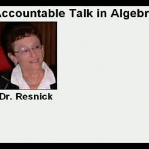 Accountable Talk in Algebra