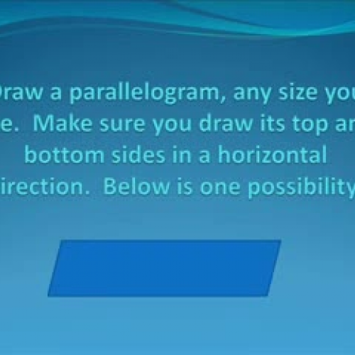 THE AREA OF A PARALLELOGRAM
