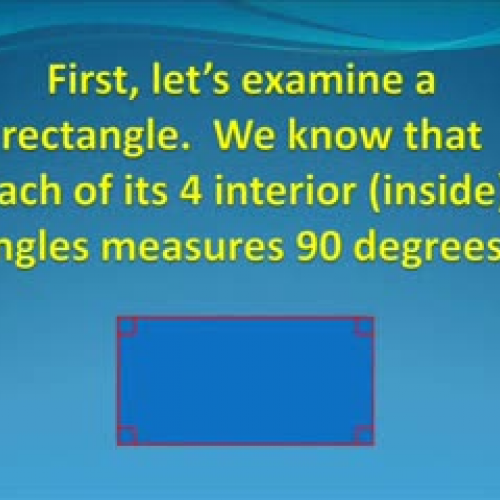 THE SUM OF THE INTERIOR ANGLES OF A RIGHT TRI