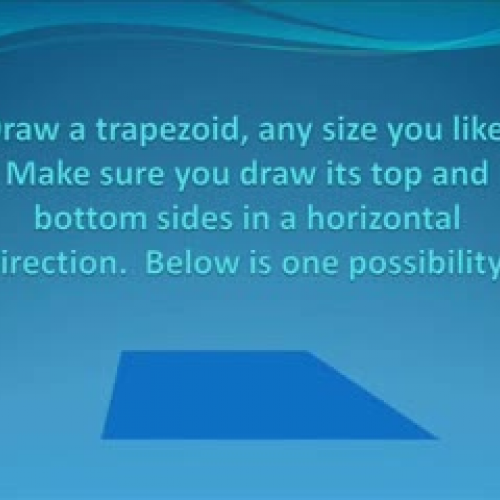 THE AREA OF A TRAPEZOID