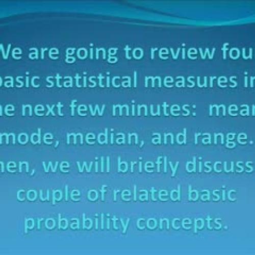 BASIC STATISTICAL MEASURES