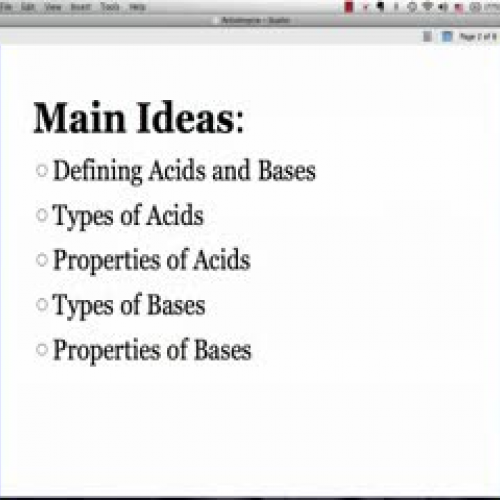 Intro to Acids and Bases