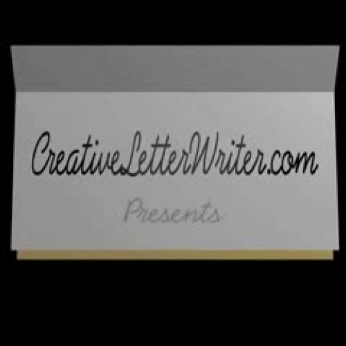 Welcome Video for Creative Letter Writer Webs