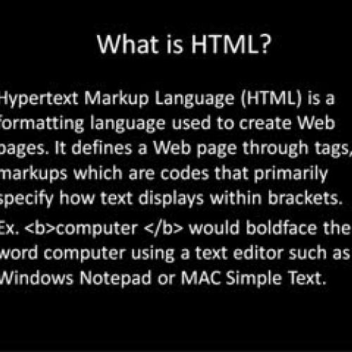 HTML Video Tutorial