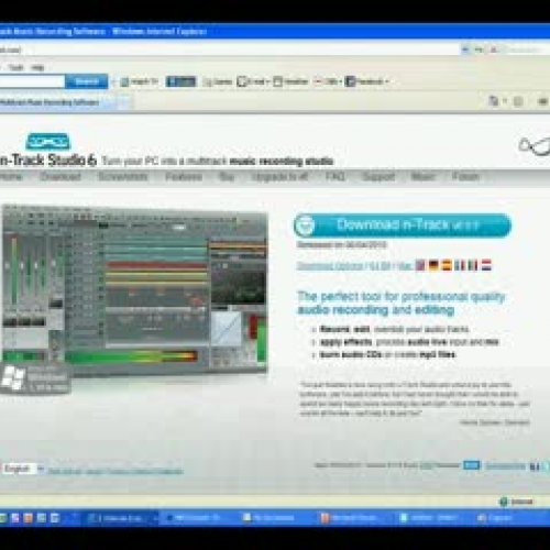 Using N Track Recording Studio