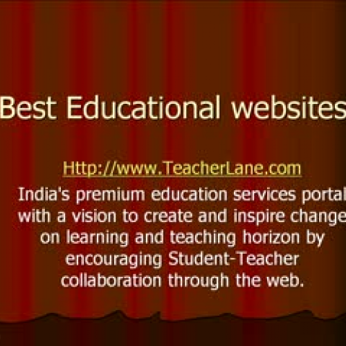 Online resources for Learning and Teaching.