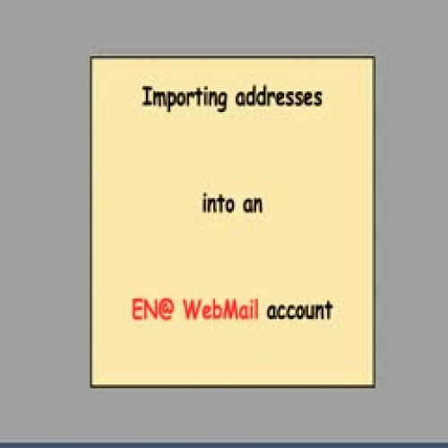 ENA email address import