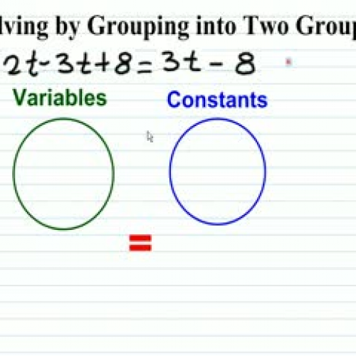 Solving Multi-Step Equations by Grouping