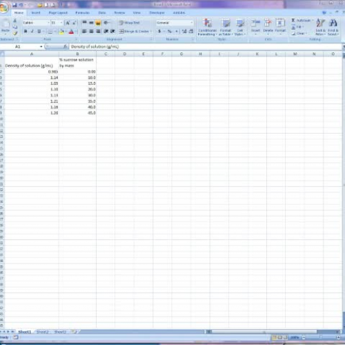 Graphing in Excel