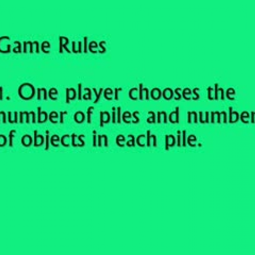 Classic Nim Game - Powers of Two