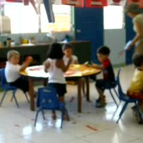 K3 students are working Hard