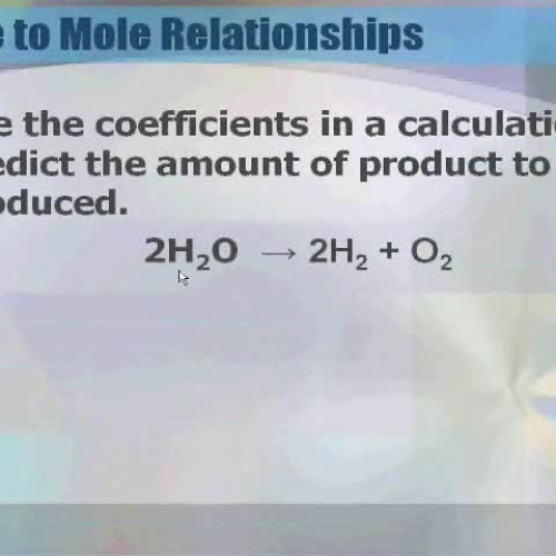 Mole to Mole Ratios