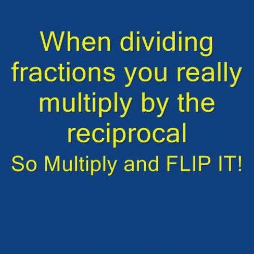 Math Rocks! Dividing Fractions FLIP IT
