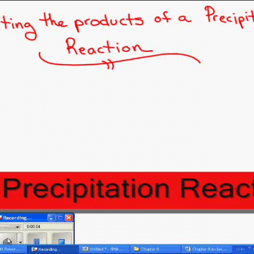 Predicting the products of precipitation reac