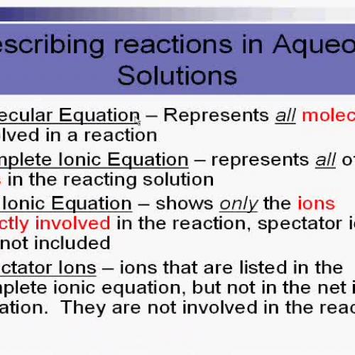 Molecular Complete Ionic Net Ionic Equations